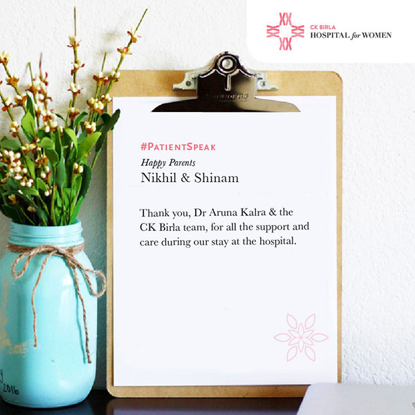 Customer Feedback I Expert Obstetrician and Gynaecologist I Maternity hospital in Gurgaon