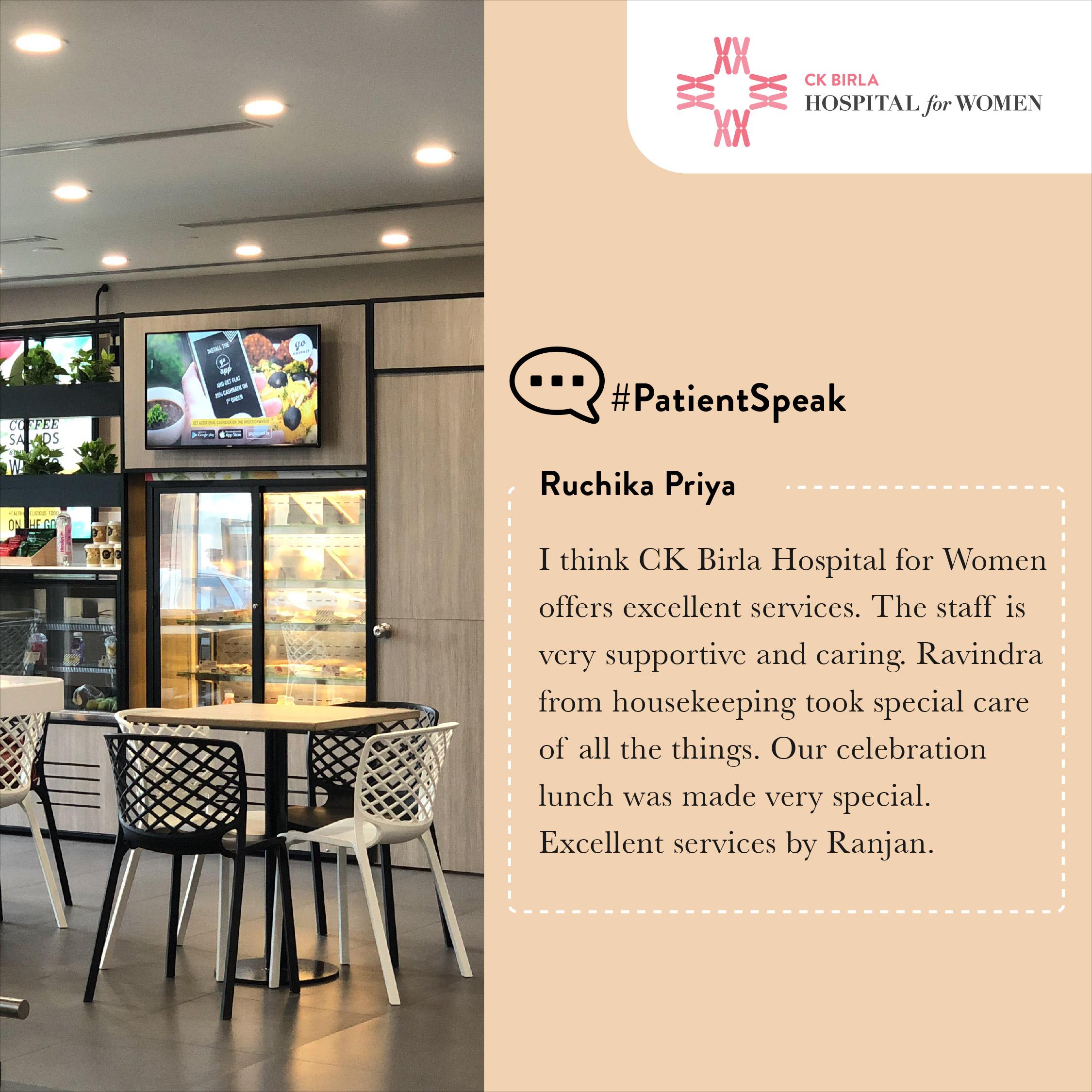 Patient Reviews CK Birla Hospital for Women